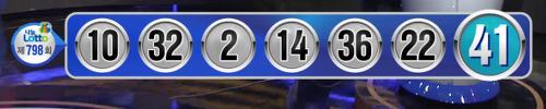 로또798회 당첨번호입니다 (간단)