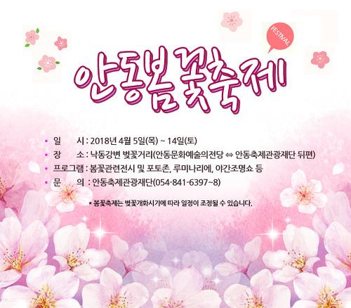 2018년 안동벚꽃축제(안동봄꽃축제) 일정 공개!