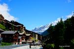 깨끗하고 아기자기한 스위스 체르마트(Zermatt) 거리 풍경