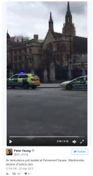 영국 의회 의사당 외곽에서 총격 발생, 런던 테러, 웨스트민스터 일대 락다운