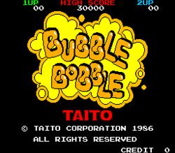 마메(MAME) - 버블보블1 (Bubble Bobble 1) / 보글보글1 / 버블버블1