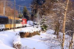 스위스 대표 관광열차 골든패스라인
