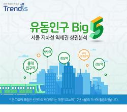 [신한 트렌드연구소] 유동인구 Big5 서울 지하철 역세권 상권분석