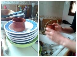 유럽식 설거지법? 신기한 친구의 설거지