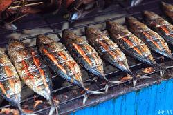 인도네시아 술라웨시섬 여행, 마나도의 독특한 참치 훈제 거리