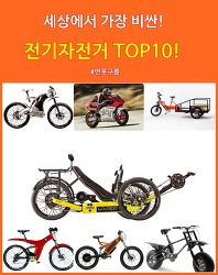 세상에서 가장 비싼 전기자전거 TOP10!