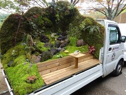 Mini Trucks in Japan Are Being Transformed Into Enchanting Tiny Gardens 일본의 미니 케이 트럭, 정원으로 변신하다