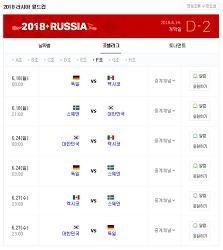 [2018 러시아 월드컵 재미있게 즐기기] 러시아 월드컵 경기시간과 일정표 공개