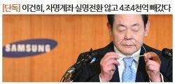"""[171016] 박용진 의원, """"이건희, 차명계좌 실명전환 않고 4조 4천억 빼갔다"""" -한겨레-"""