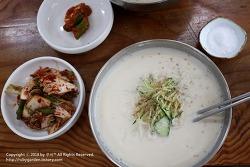 경주 맛집 / 황성동 맛집 / 콩국수가 맛있는 '장터 손칼국수'