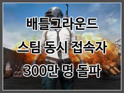 배틀그라운드, 동시 접속자 300만 명 돌파