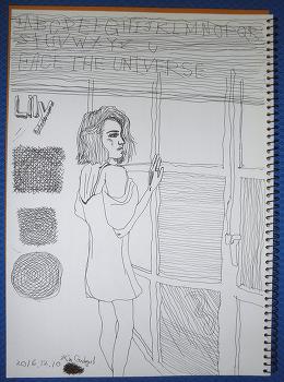 [자작 그림] Lily Collins (릴리 콜린스) - Window Shopping
