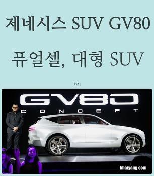 제네시스 SUV GV80 뉴욕서 공개, 실체는 수소연료 대형SUV