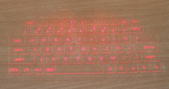 레이저 프로젝션 키보드 SF영화에 나오는 레이저빛 키보드