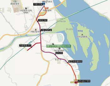 진흥고속 본사영업소 33-5번 버스 (가평터미널,오거리-가평고교,가평역-달전리-남이섬,닭갈비마을)