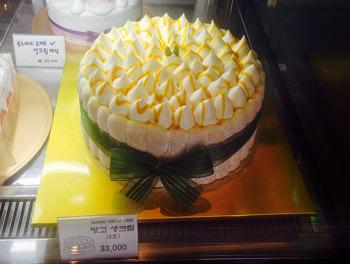 여의도 커피소녀 케익 - 망고 생크림 케익