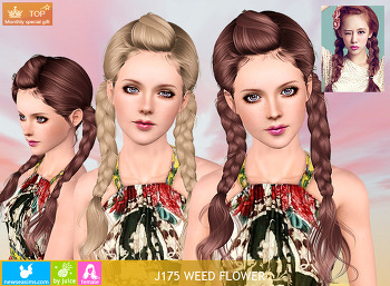 NewSea-SIMS3-hair-J175-Weed Flower