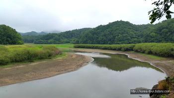 [배스낚시 2017년 07월초-충북 옥천 대청호 환평리]물빠져서 도강