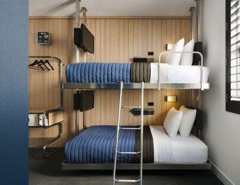 파자마 파티 적격! 어른들이 더 좋아하는 2층 침대 호텔 3선
