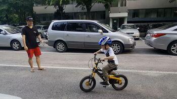 스마트폰짐벌 유오플레이 활용기, 아이의 첫 자전거 타기를 담아내다