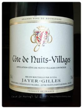 풍부한 붉은 과일의 향이 매력적인 명인 가문의 와인 - Cote de Nuits Villages Domaine Jayer-Gilles 2006