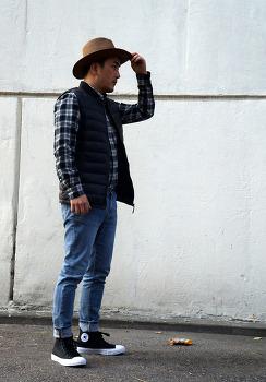 데일리룩 블로그 남자 겨울 패션 코디 체크셔츠 코디
