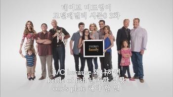모던패밀리 시즌8 3화 무료 강의 미드생활영어회화공부 ✔ My plate's full