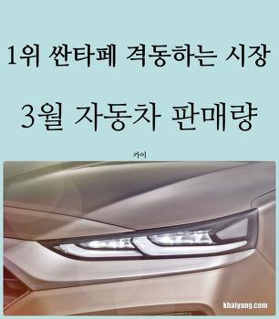 1위 올라선 싼타페와 격동하는 시장, 3월 자동차 판매