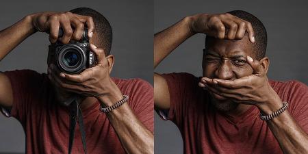 사진가들의 카메라 뒤 표정을 담은 사진