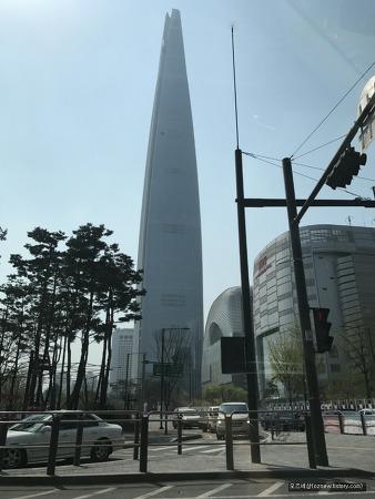 롯데월드타워 전망대에서 바라본 서울의 모습