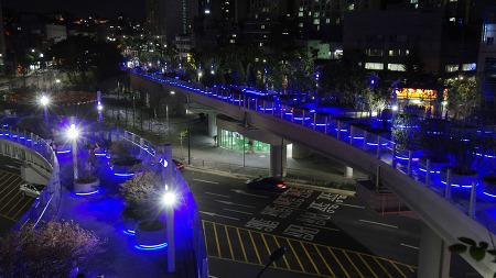 서울로7017 (2017여름) 서울역 고가 보행길 야경 사진
