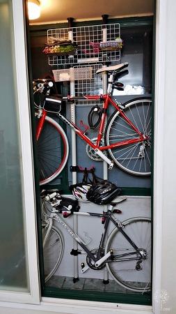 자전거 효율적으로 보관하기 행거형 2단 자전거 거치대