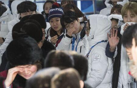 단일팀 선수들의 '눈물바다' 이별