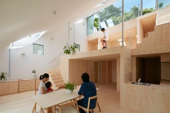 *고베 경사지를 이용한 힐사이드 하우스 [ tomohiro hata ] hillside house