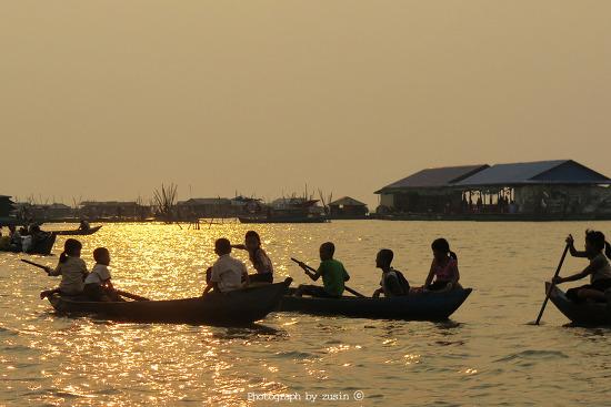 [캄보디아 여행] 물위의 마을이 있는 톤레삽 호수(Tonle Sap Lake)