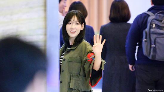 170314 박지윤 가요광장 태연 출퇴근 직찍