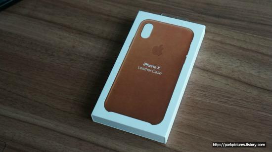 아이폰 X 가죽케이스 정품 새들 브라운 구입기