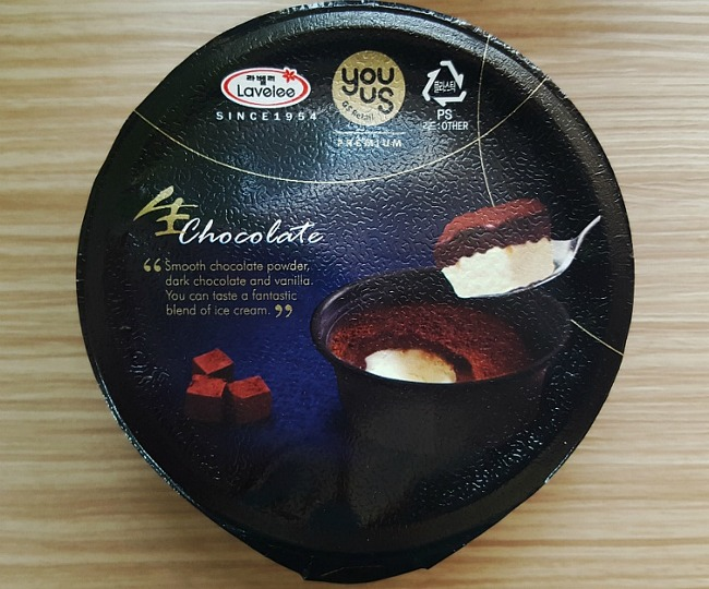 [GS25 편의점 아이스크림] 라벨리 아이스크림 : 생초콜릿 아이스크림 가격 및 칼로리 후기