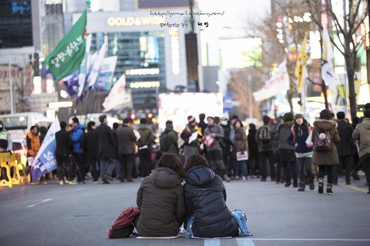 15차 부산 시국대회에서의 모습들....