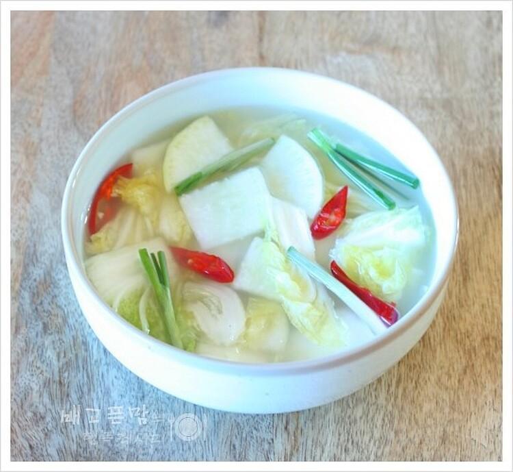 고구마 먹을때 찰떡 궁합인 배추 물김치