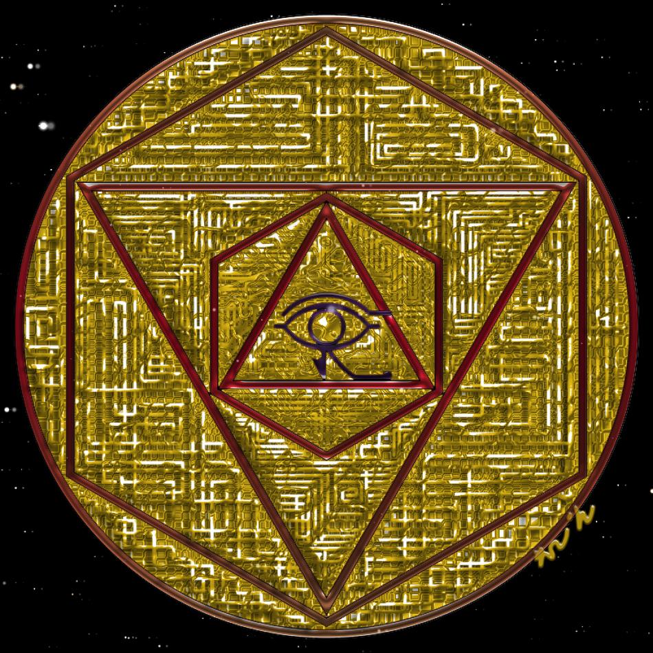 호루스(Horus)의 눈  만다라 Mandala(히란야) 및 도안 2