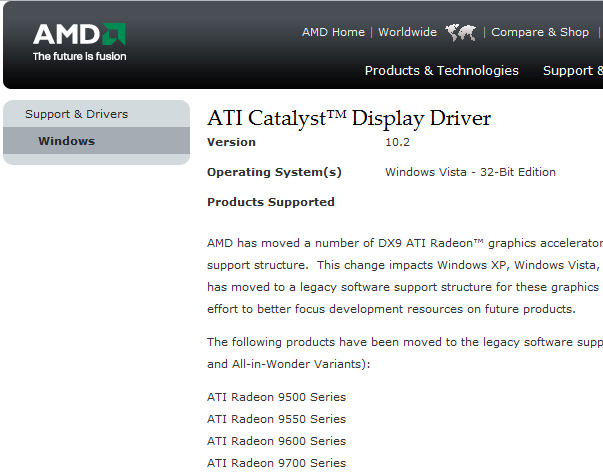 Ati Radeon X1250 Graphics Driver Xp