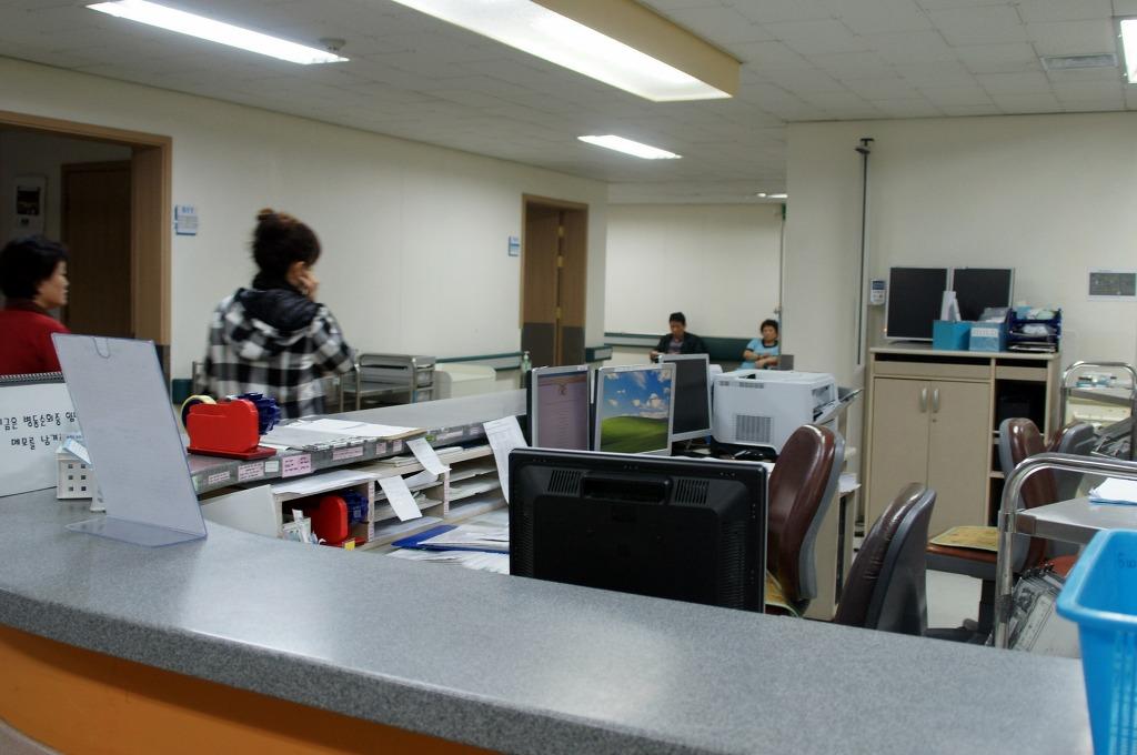 성바오로병원 6층 병동 간호실.