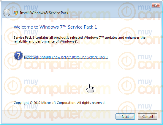 Install Windows(R) Service Pack