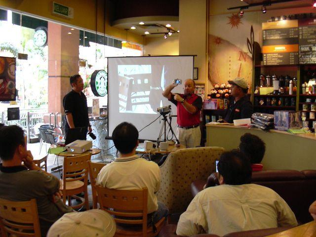 2003년 12월 6일에 참석한 PDA 모임 모습
