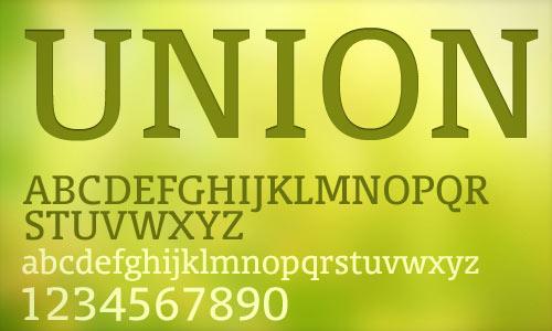 무료폰트, UNION