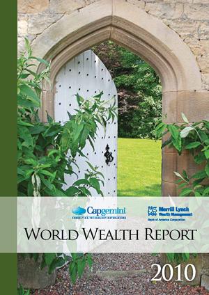 매년 Merrill Lynch와 Capgemini에서 발표하는 World Wealth Report 2010 자료입니다.