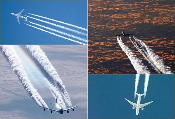 항공기에서 발생되는 비행운