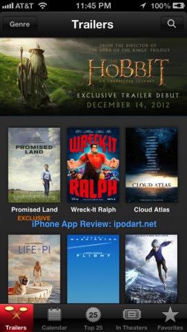iTunes Movie Trailers 아이폰 아이패드 영화 트래일러