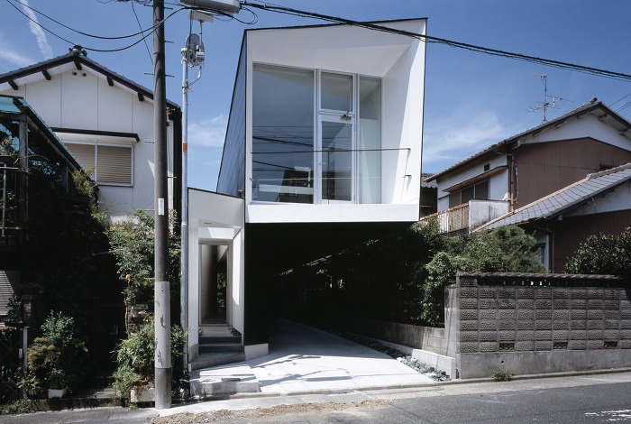 M house d i g architects yoonzip interior architecture for Small urban house plans